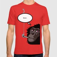 Pop Icon - Bonobo 2 Mens Fitted Tee Red SMALL