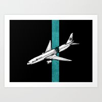 Flight 815 Art Print