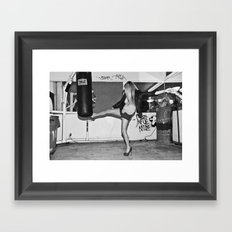 Heel Kick Framed Art Print