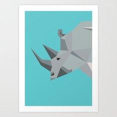 Rhino - tessellated Art Print