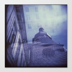 Holga Double Exposure: Eglise Saint-Paul-Saint-Louis, Paris  Canvas Print