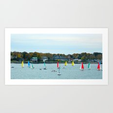 SAILING FUN Art Print