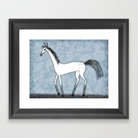 SILLY HORSE Framed Art Print