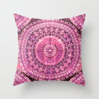Rose Mandala Throw Pillow