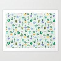 Plant Pot Pattern Art Print