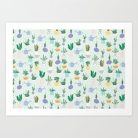Plant pot Pattern Art Print