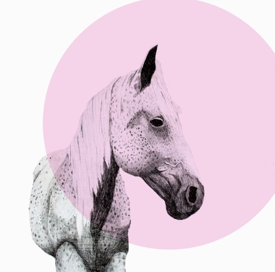 speckled horse Art Print
