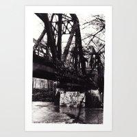 Stencil under the Bridge Art Print