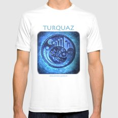 TURQUAZ Mens Fitted Tee White SMALL