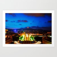 Barcelona. Montjuik Art Print