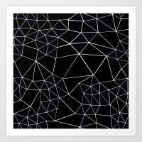 Segment Zoom Black and White Art Print