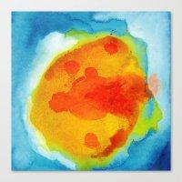 Sun Abstraction Canvas Print