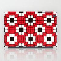 Retro Mosaic Red & Black iPad Case