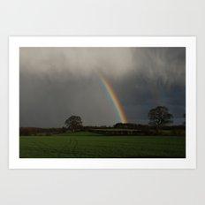 Road to the rainbow Art Print