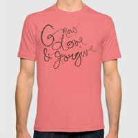 Grow, Love & Forgive Mens Fitted Tee Pomegranate SMALL