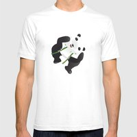 pppanda! Mens Fitted Tee White SMALL