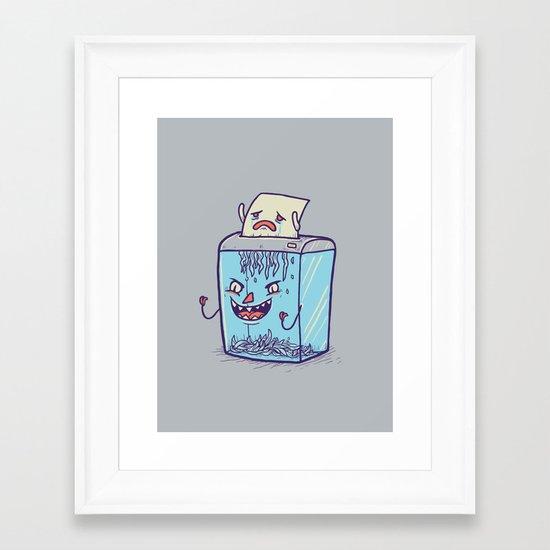 Enjoying your dayjob Framed Art Print