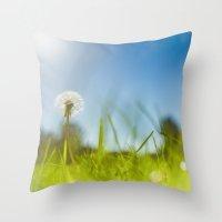 Blue & Green & Dandy Throw Pillow