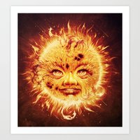 Art Print featuring The Sun (Young Star) by Dr. Lukas Brezak