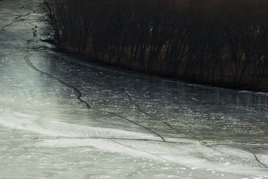 cracks in the ice Art Print