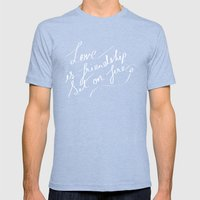 LOVE & FIRE Mens Fitted Tee Tri-Blue SMALL
