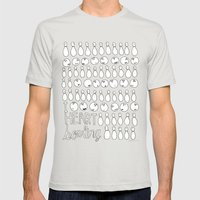 I Heart Bowling  Mens Fitted Tee Silver SMALL