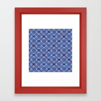 INDIGO RED SUMIYA Framed Art Print