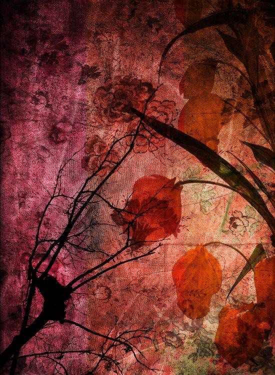 COLOR SYMPHONY ~ Asian design of flowers Art Print