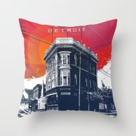 Throw Pillow featuring Save Detroit by The Mighty Mitten - …
