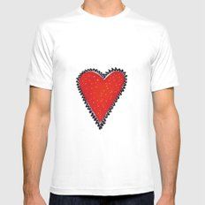 I HEART YOU Mens Fitted Tee SMALL White