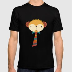 Business Monkey SMALL Black Mens Fitted Tee