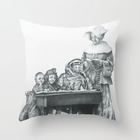 In Which A Cosmonaut Is … Throw Pillow