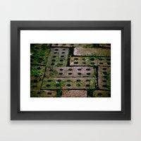 Through The Bricks Framed Art Print
