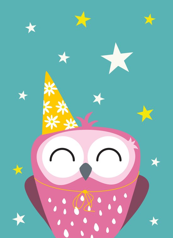Party Owl Art Print