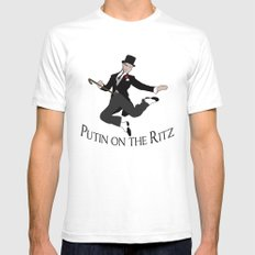 Putin on the Ritz SMALL Mens Fitted Tee White