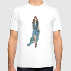 Sea Dress White Mens Fitted Tee SMALL