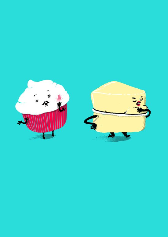 Red PERVERT Cupcake Canvas Print