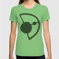 Earth and Moon Womens Fitted Tee Grass SMALL