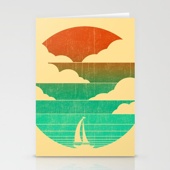 Go West (sail away in my boat) Stationery Card