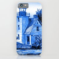 iPhone & iPod Case featuring Light House: Blues by Eileen Paulino