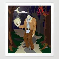 D is for Dullahan Art Print