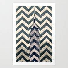 Chevron Empire Art Print