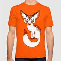 Mysterious Fox Mens Fitted Tee Orange SMALL