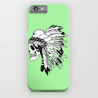 iPhone & iPod Case featuring Black and White Native American  by tCAP