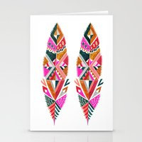 Brooklyn feathers Stationery Cards