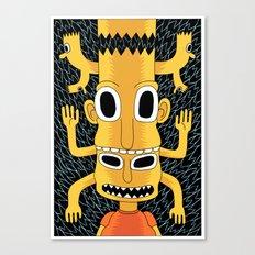 Cartoon Totem Canvas Print