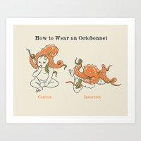 Octobonnet Art Print