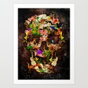 Animal Kingdom Sugar Skull iPhone 4 4s 5 5s 5c 6, ipod, ipad, pillow case and tshirt Art Print