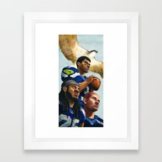 Seahawks Framed Art Print