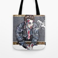 Zombie James Dean Tote Bag